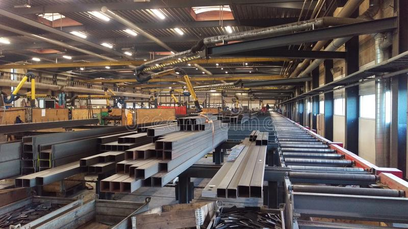 Steel factory workshop royalty free stock images