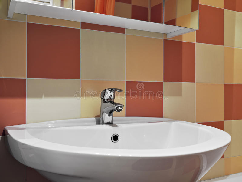 Download Steel Faucet In A Modern Bathroom Stock Photo - Image: 31271820