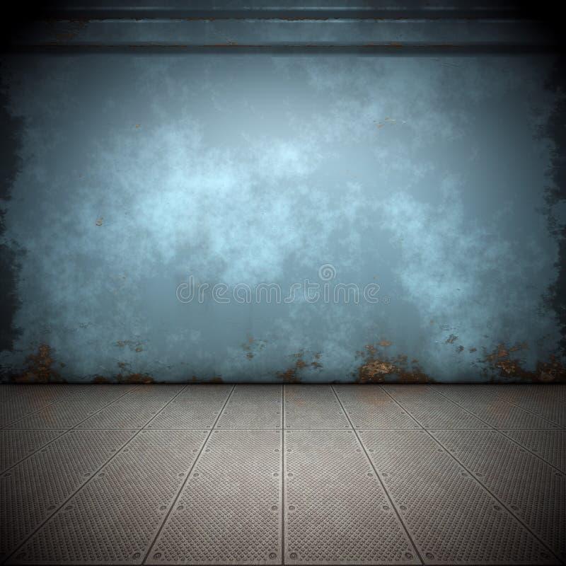 Steel floor stock photography