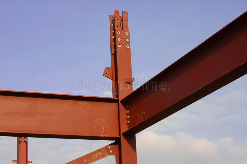 Steel frame royalty free stock images