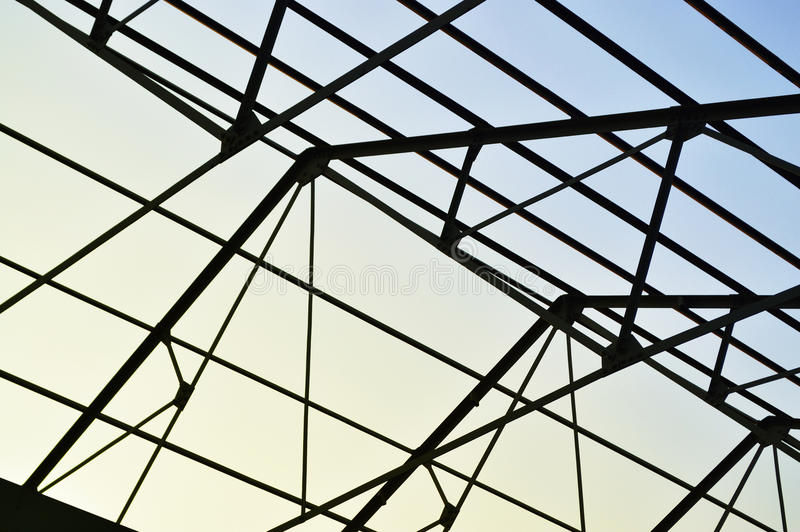 Steel Frame Of The Factory Roof Stock Image - Image of corporate ...