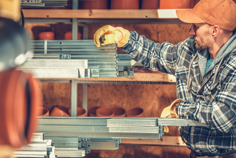 Steel Framing Elements royalty free stock photos