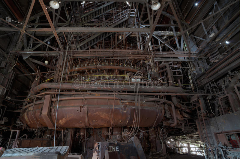 Steel furnace royalty free stock images