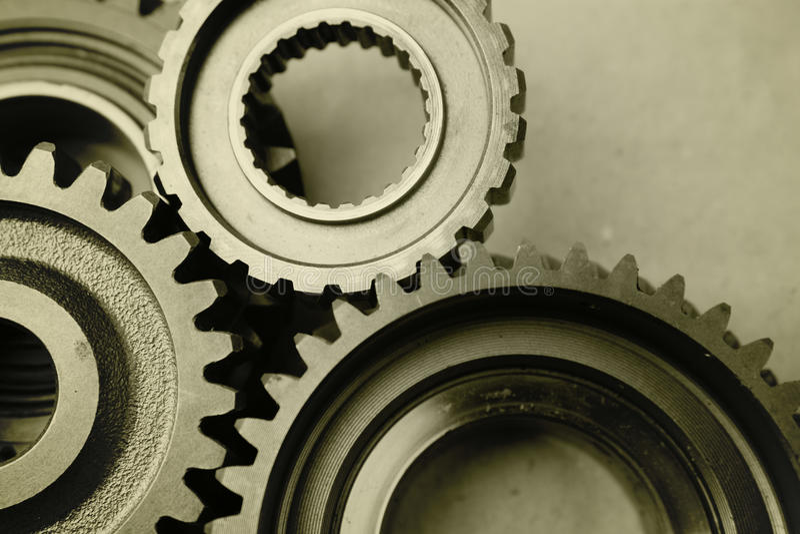 Download Steel gears stock image. Image of interlink, industrial - 28706229
