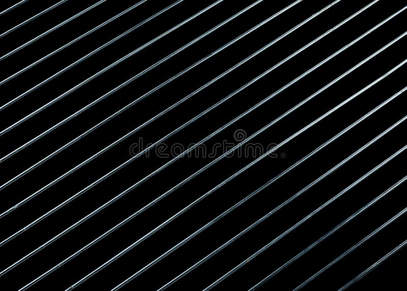 Steel ggrating isolated on black background stock photos