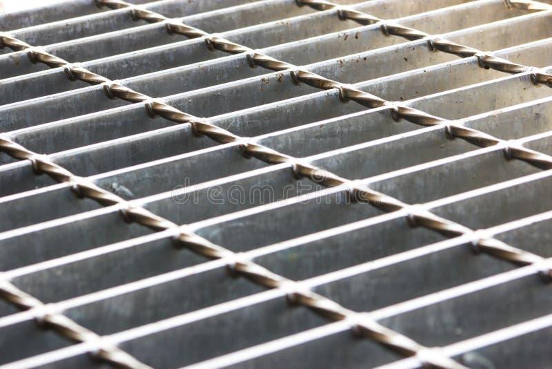 Steel grating stock afbeeldingen