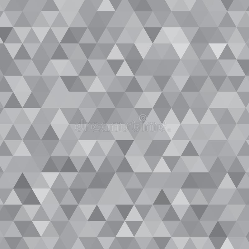 Steel Gray Shades Background Square of Triangles vector illustration