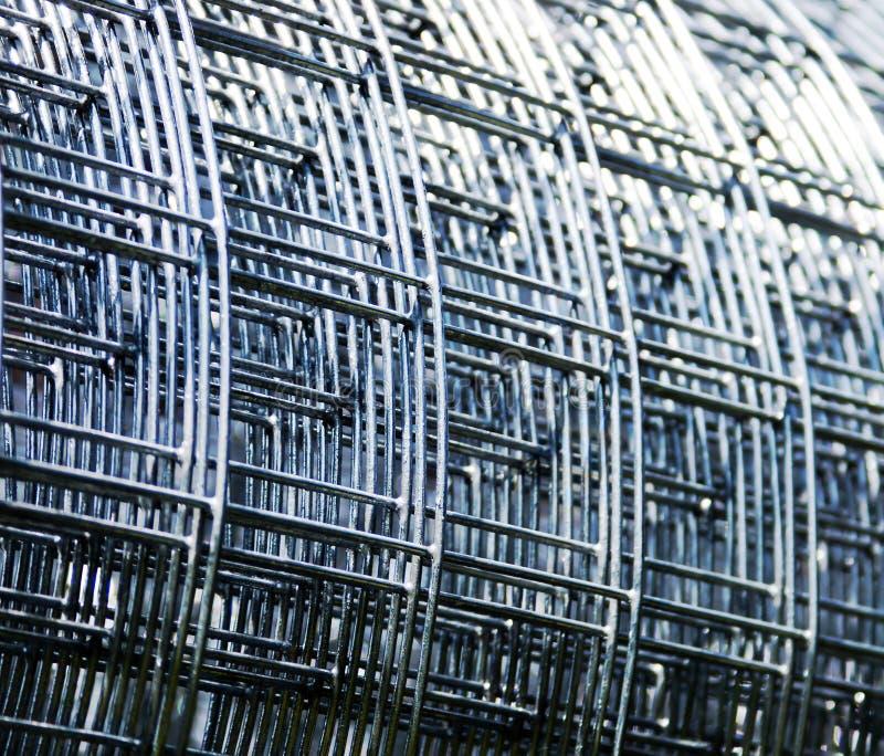Steel grid stock image
