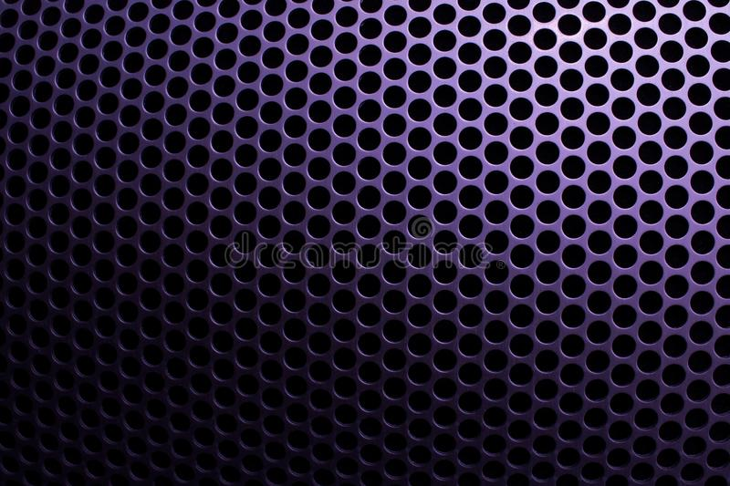 Steel grid with round holes royalty free stock photos