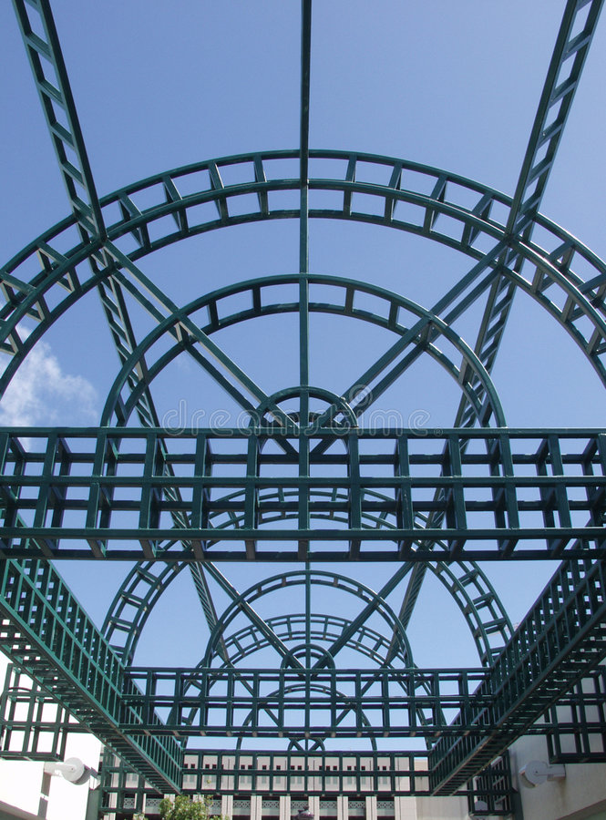 Steel Gridwork stock images