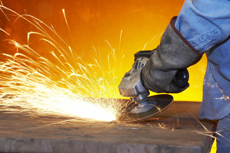 Download Steel grind stock image. Image of factory, tool, rays - 7644989
