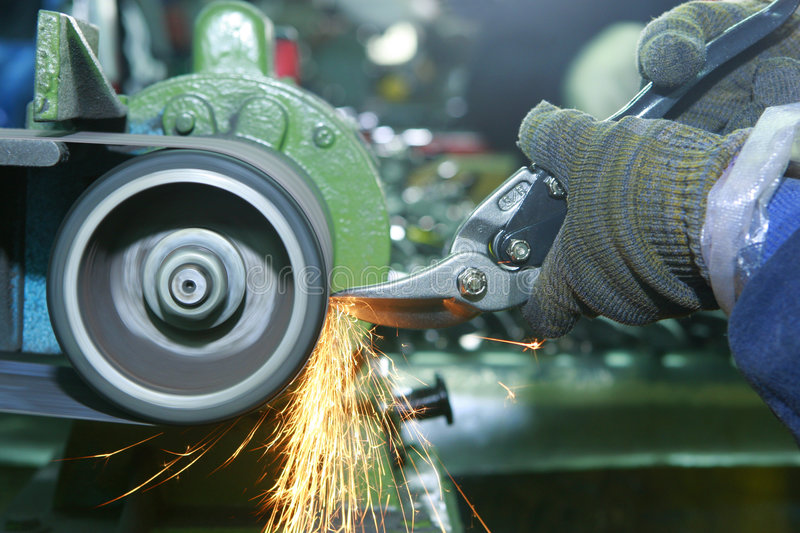 Steel grind stock photography