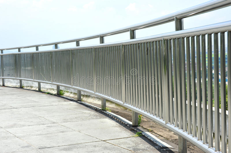 Download Steel Guard Rail stock photo. Image of stainless, rail - 19762218