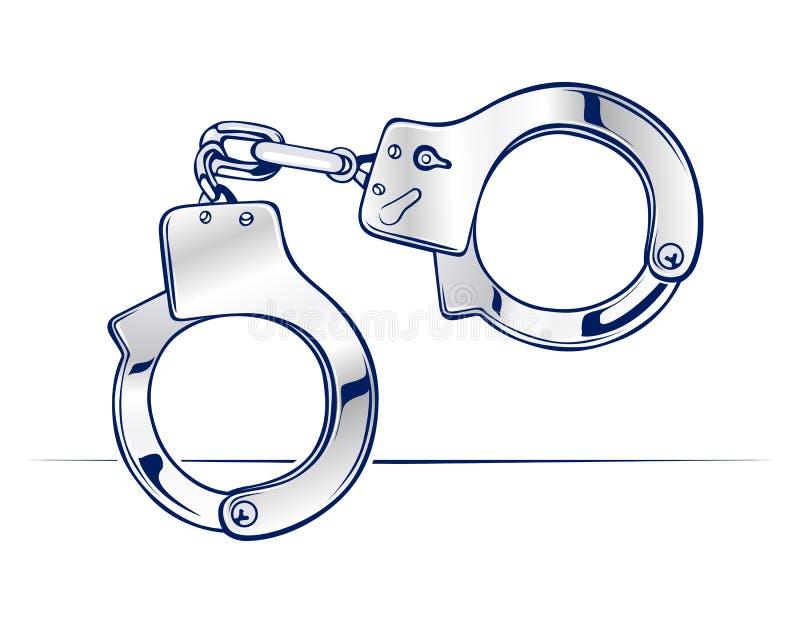 Download Steel handcuffs stock vector. Illustration of emergency - 21807219
