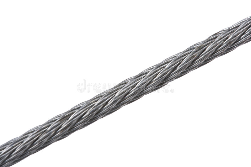 Steel Hawser Isolated On White Stock Images