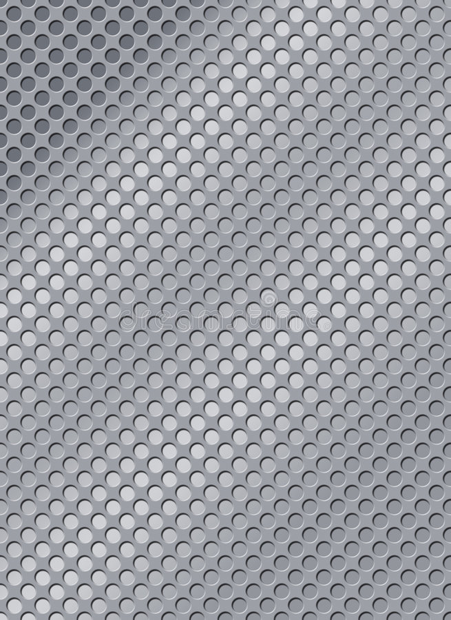 Steel with holes royalty free illustration
