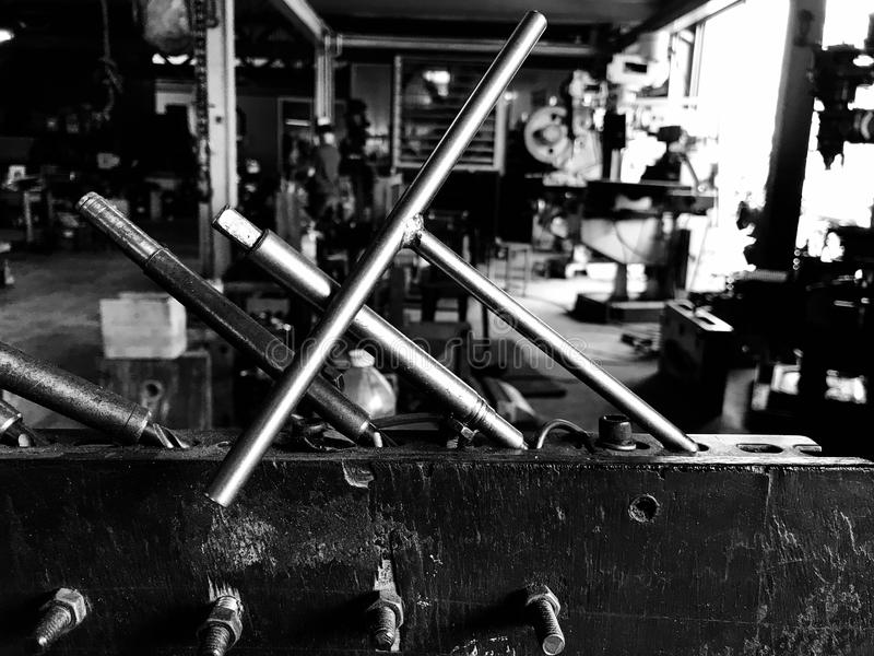 Steel and industrial machinery stock image