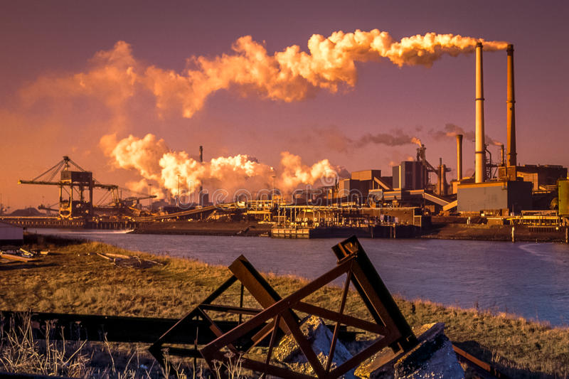 Steel industry. In the Netherlands royalty free stock photo