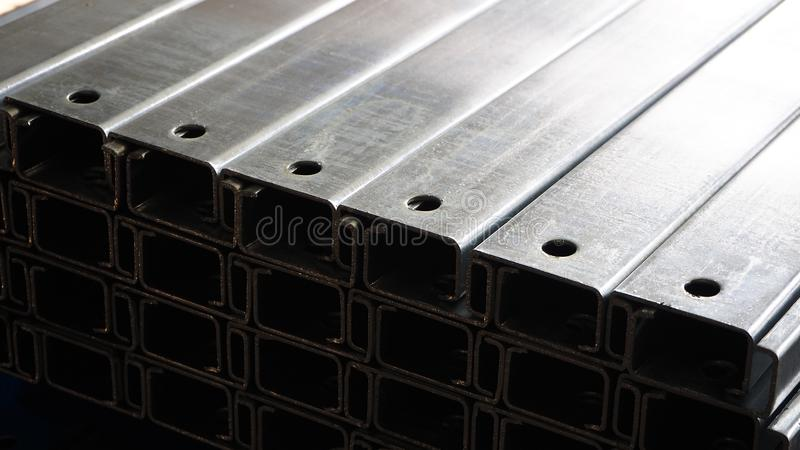 Steel for industry. Reinforcement steel bars used in construction royalty free stock photography