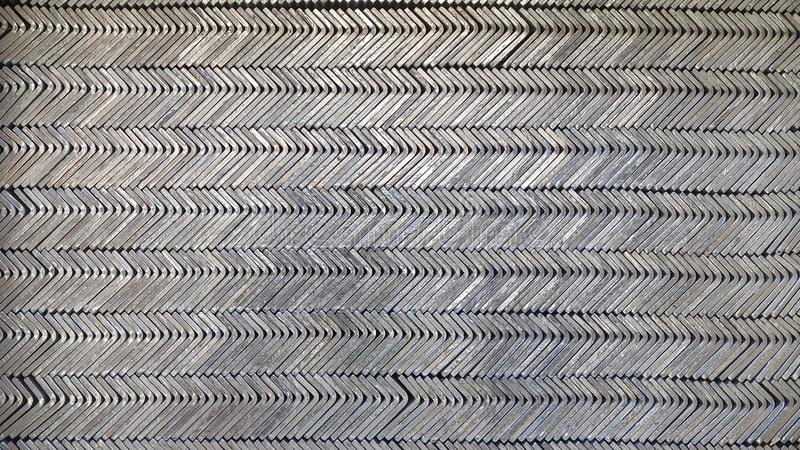 Steel for industry. Reinforcement steel bars used in construction royalty free stock image