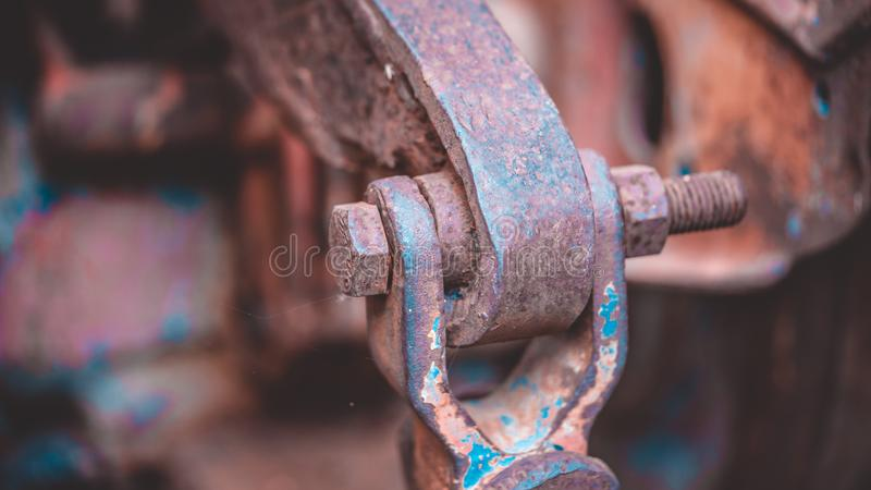 Steel Joint Wire Pulling Car stock images