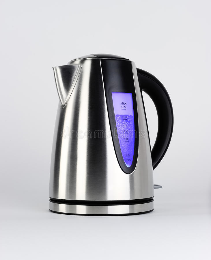 Steel kettle royalty free stock images