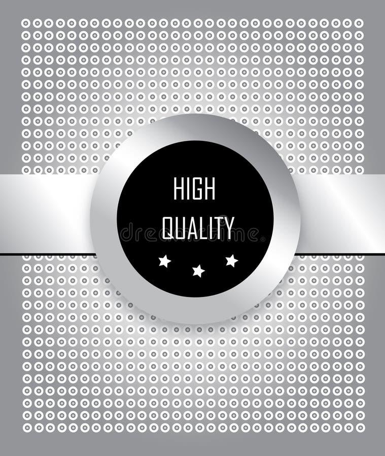 Steel Label Stock Image