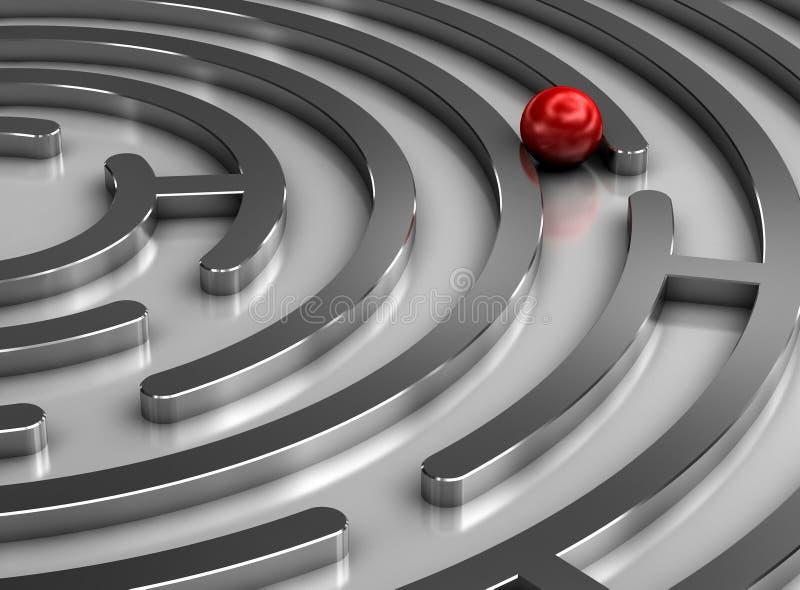 Steel labyrinth stock illustration
