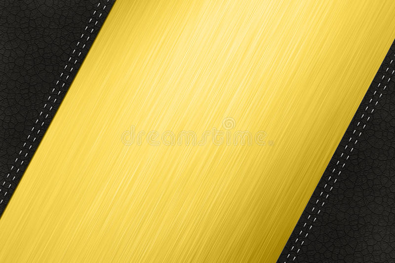 Steel And Leather Stock Photo