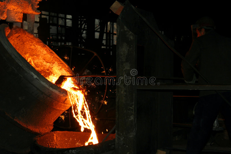 Steel making stock photo