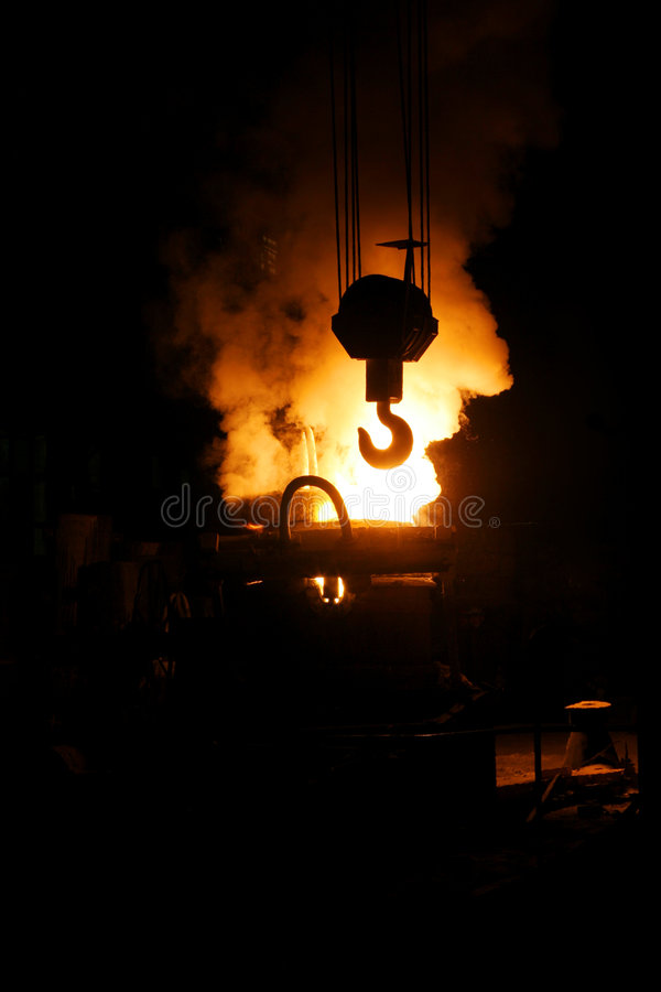 Free Steel Making And Crane Hook Stock Photos - 8148063