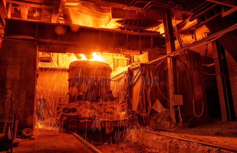 Steel making workshop stock images
