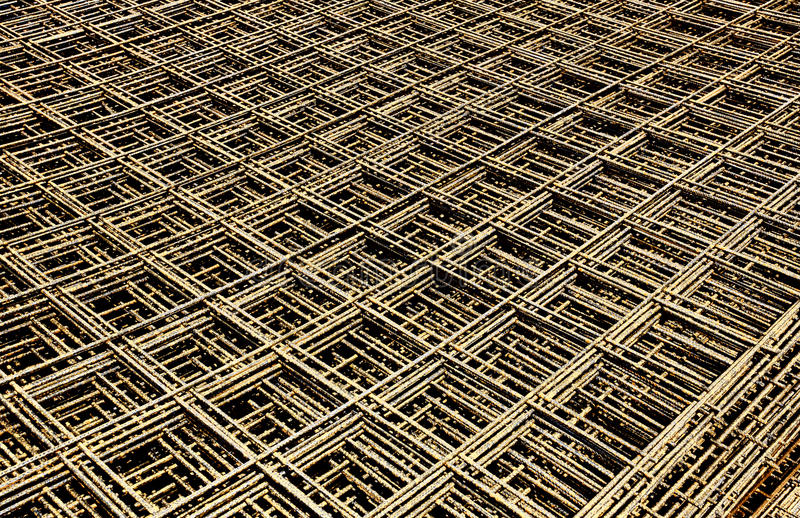 Steel mesh. Abstract image of reinforcement steel mesh for concrete slabs royalty free stock photo