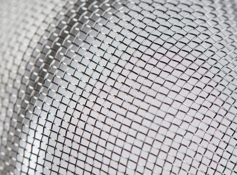 Steel mesh macro royalty free stock photo