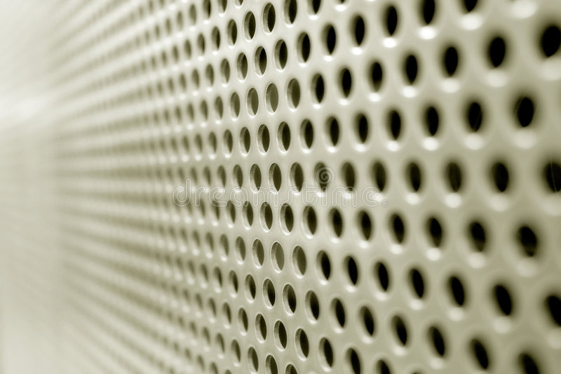Steel Mesh Screen (Horizontal). A steel mesh screen blurring into the distance. Horizontal direction royalty free stock photos