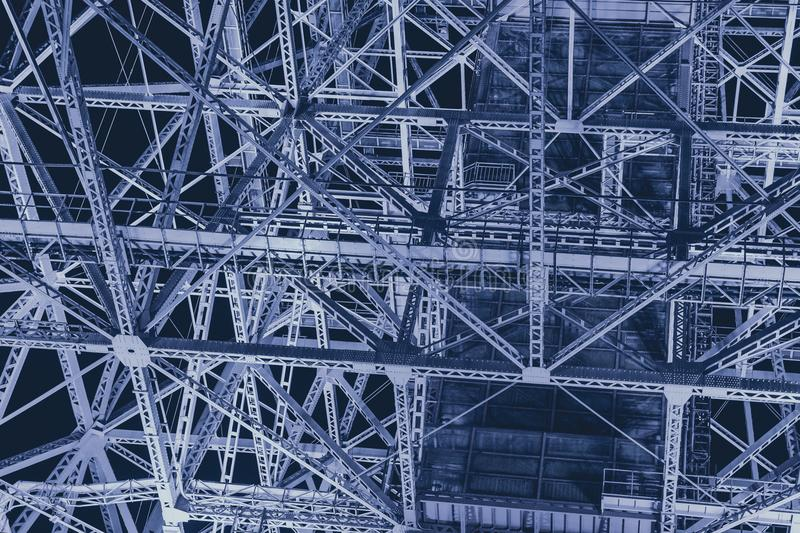 Steel metal industry construction futuristic science abstract for background stock photography