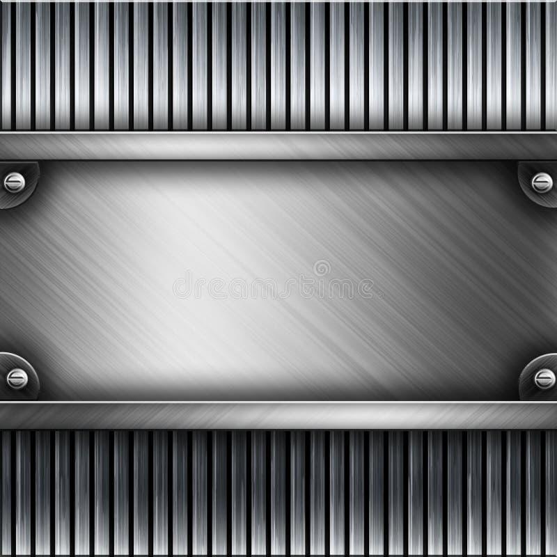 Steel metal plate background royalty free illustration