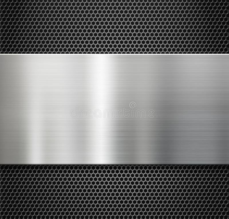 Free Steel Metal Plate Over Comb Grate Background Royalty Free Stock Photo - 41382185