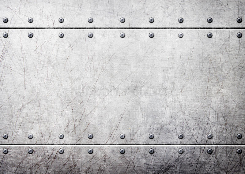Steel metal plates with rivets seamless background, 3d, illustration. Metal plate with rivets over rustic steel background, 3d, illustration vector illustration
