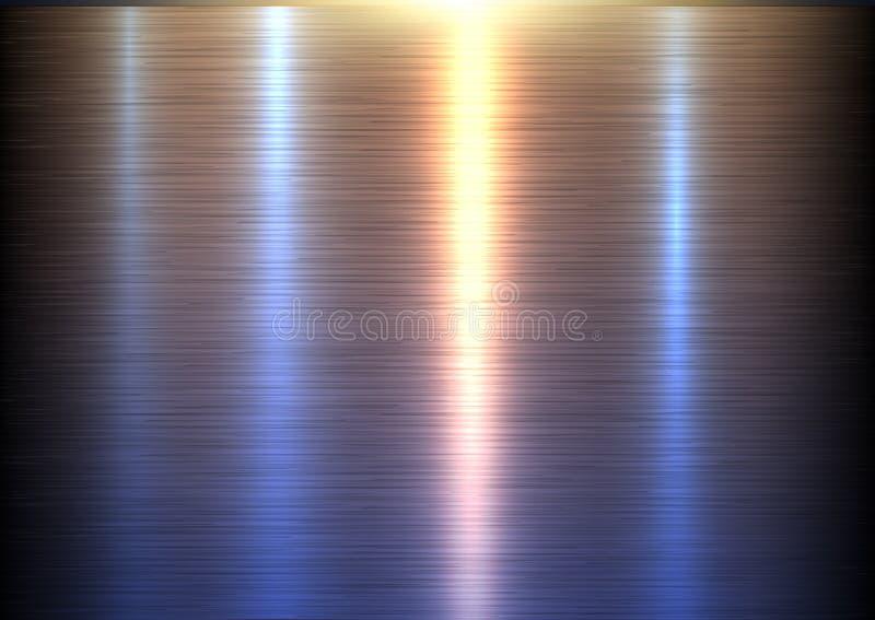 Steel metal texture. Interesting vector metallic background royalty free illustration