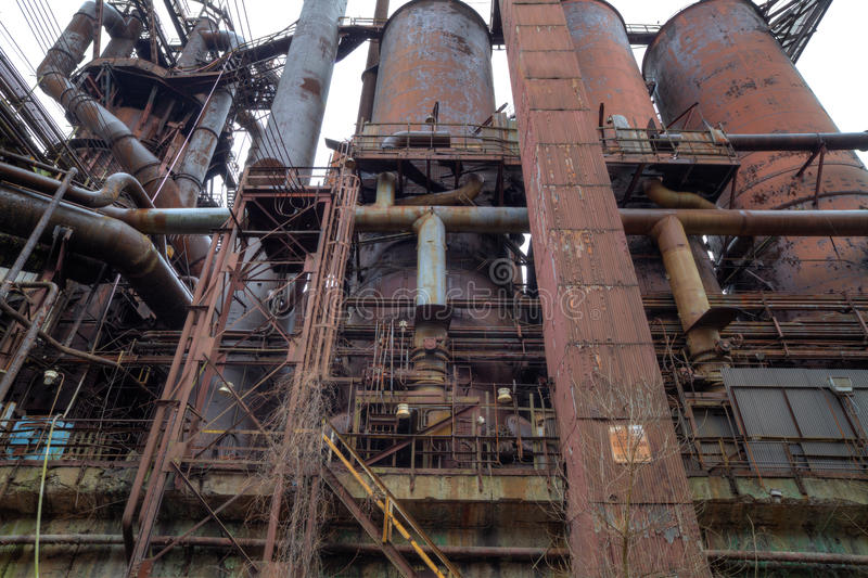 Download Steel mill outside stock photo. Image of deserted, abandoned - 32885970
