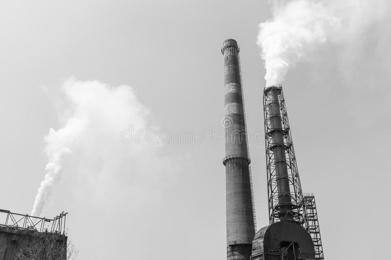 Steel mills smoke pollution. Background royalty free stock photos