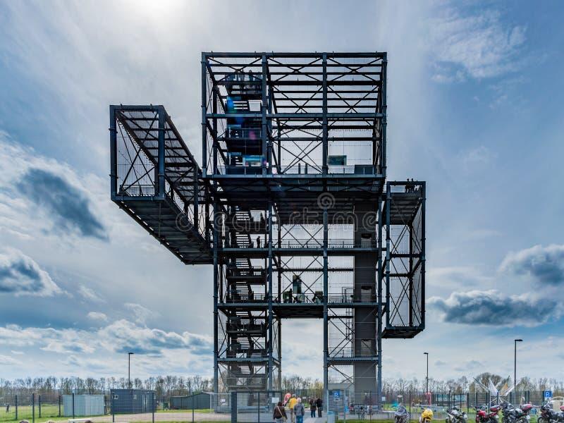 Steel mining tower