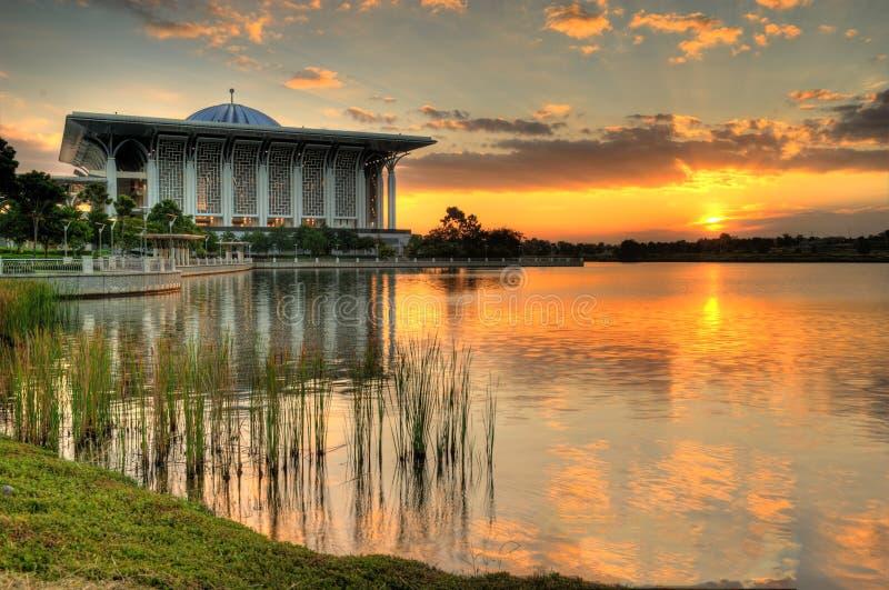 Download Steel Mosque stock image. Image of putrajaya, clouds - 22896647