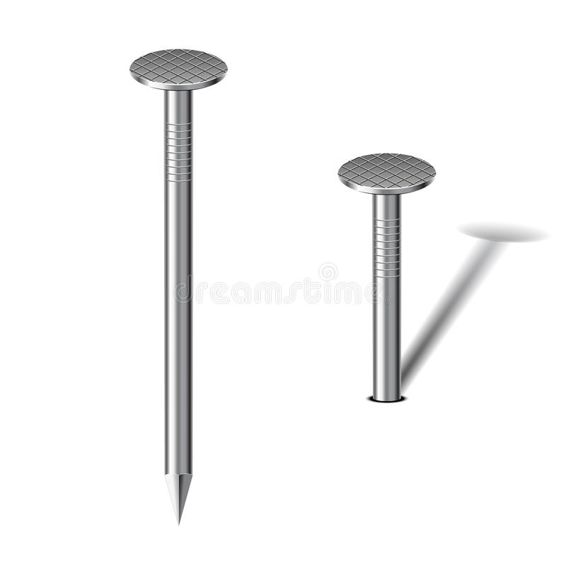 Steel nail. vector illustration
