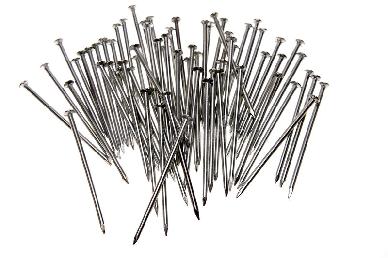Steel nails stock images