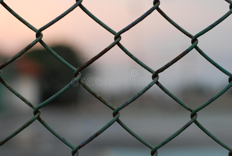 Steel net close up royalty free stock photo