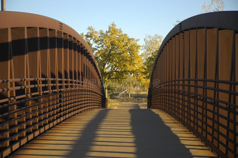 Steel pedestrian bridge stock photos