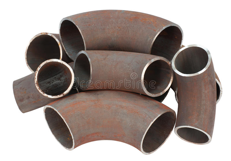Download Steel pipe bends stock photo. Image of water, spare, isolated - 20756334