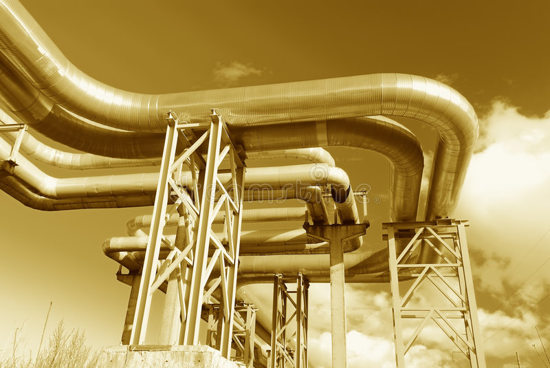 Download Steel Pipe-line Is Photographed On Sky Background Stock Photos - Image: 7135423